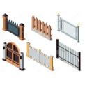 3D забор, рабица, штакетник, столбы.