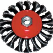 Корщетка-колесо с наклоном 125мм М14 витая 39116
